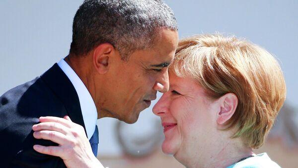Barack Obama e Angela Merkel al G7 di giugno in Germania - Sputnik Italia