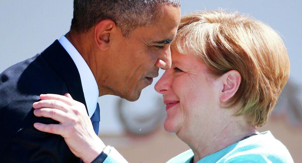 Barack Obama e Angela Merkel al G7 di giugno 2015 in Germania