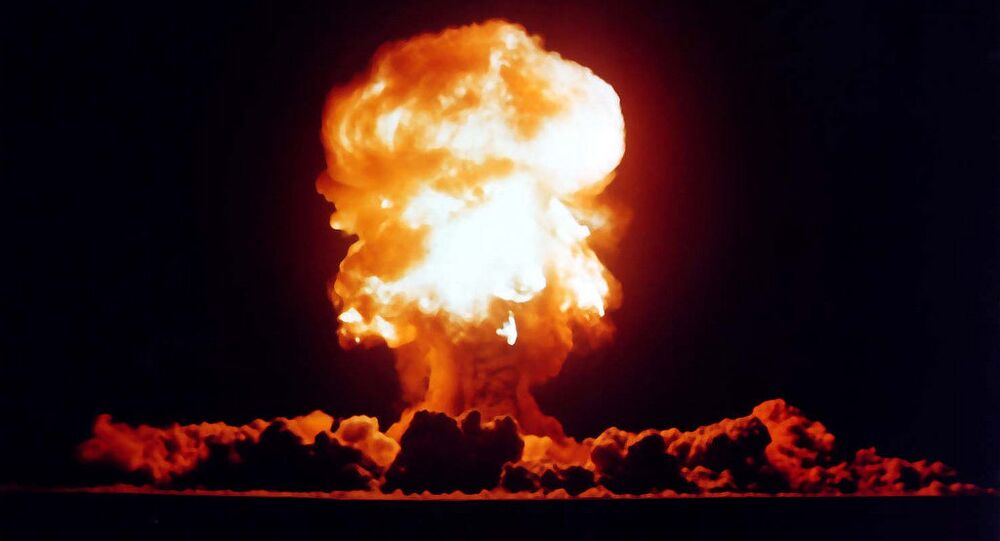 US nuclear weapons test in Nevada in 1957