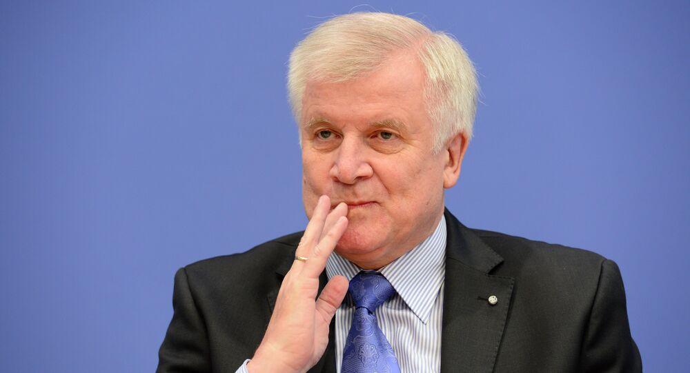 Leader of CDU Bavarian allies Christian Social Union (CSU) Horst Seehofer