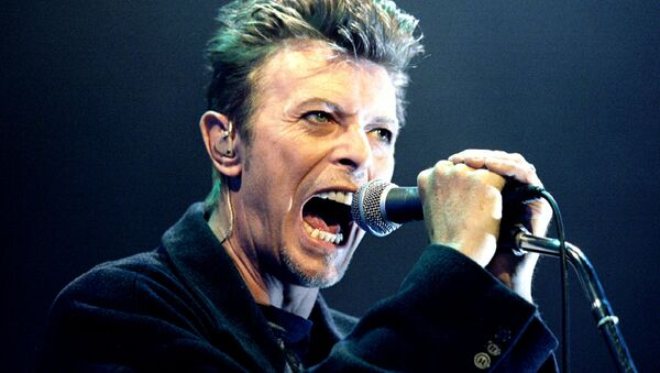 David Bowie performs during a concert in Vienna, Austria in this February 4, 1996 file photo - Sputnik Italia