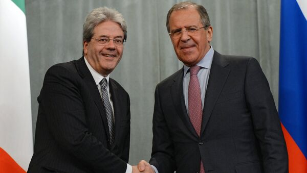 Gentiloni e Lavrov - Sputnik Italia