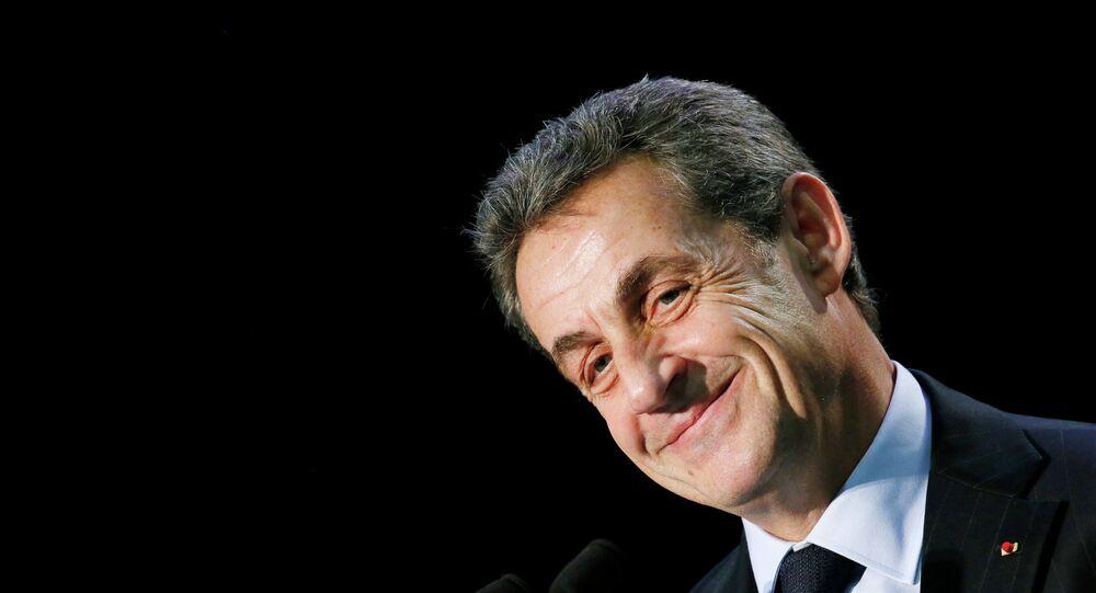 Nicolas Sarkozy, ex-presidente francese e il leader di UMP