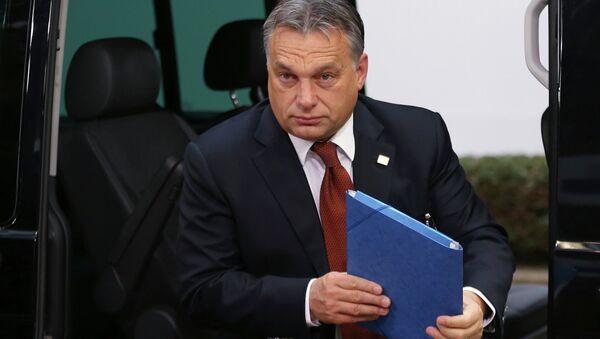 Hungary's Prime Minister Viktor Orban arrives at an European Union leaders summit in Brussels October 24, 2014. - Sputnik Italia