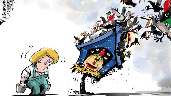 Merkel e i migranti - Sputnik Italia