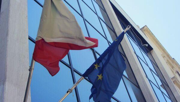 Le bandiere dell'Italia e dell'UE - Sputnik Italia