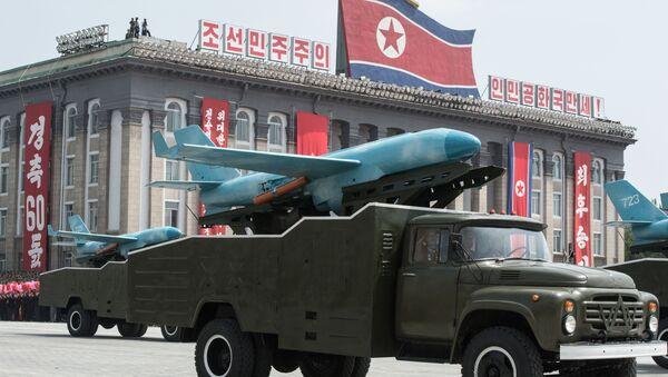 Un drone sulla base di MQM-107D Streaker alla parata dedicata alla 60 anniversario della fine della Guerra di Corea - Sputnik Italia