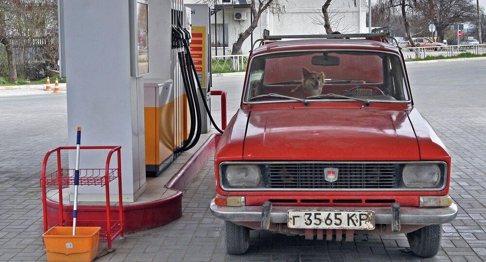 Stazione di rifornimento gas a Simferopoli