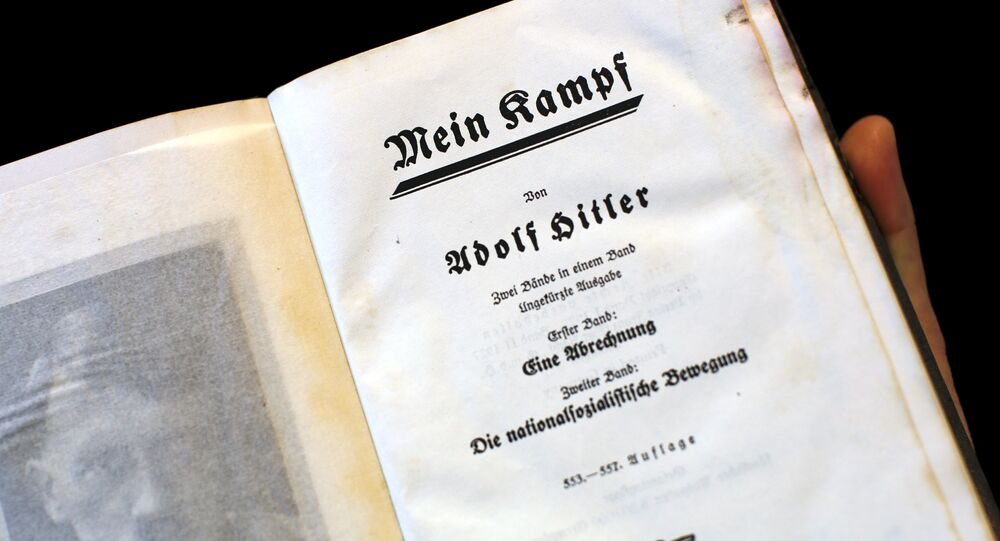 A copy of Adolf Hitler's book Mein Kampf (My Struggle) from 1940 is pictured in Berlin, Germany, in this picture taken December 16, 2015
