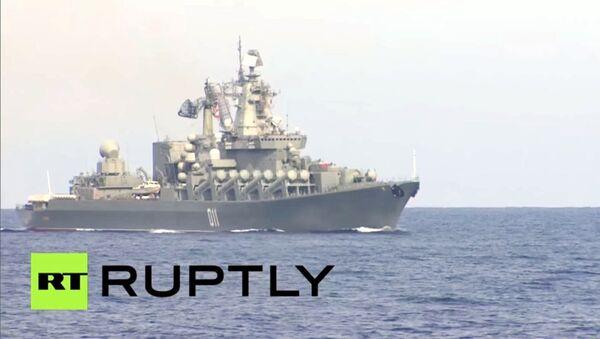 Giornalisti a bordo delle navi della Marina russa nel Mediterraneo - Sputnik Italia