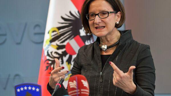 Ministro degli Interni dell'Austria Johanna Mikl-Leitner - Sputnik Italia