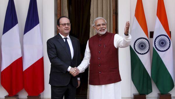 Francois Hollande e Narendra Modi a New Delhi - Sputnik Italia