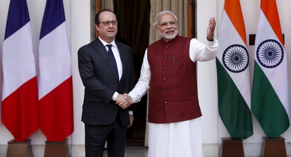 Francois Hollande e Narendra Modi a New Delhi