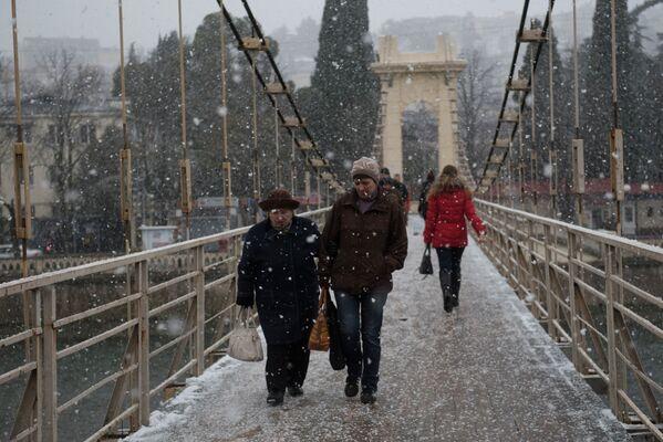 Sochi coperta di neve. - Sputnik Italia