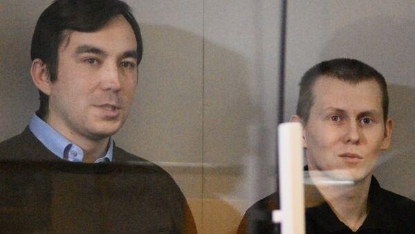 Yevgeny Yerofeyev e Alexander Alexandrov nella corte a Kiev - Sputnik Italia
