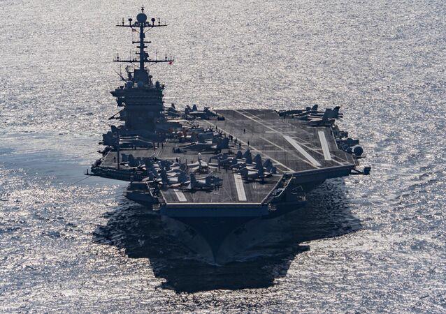 Portaerei USA Harry S. Truman nel Golfo di Oman