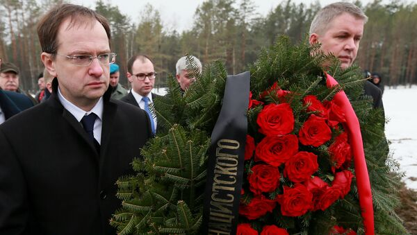 Ministro della Cultura della Russia Vladimir Medinsky a Sobibor - Sputnik Italia