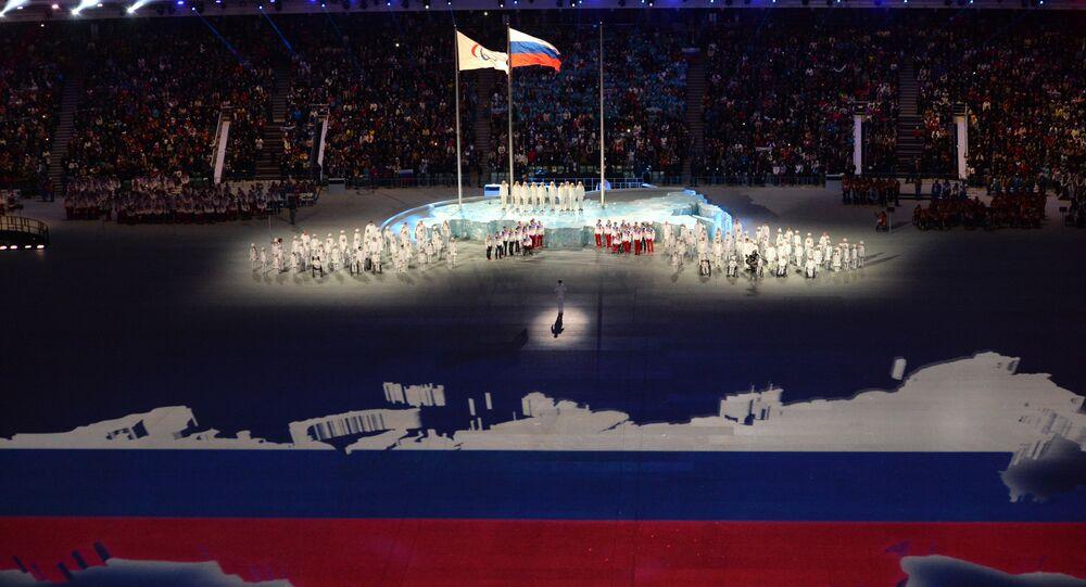 Un momento della Cerimonia di Chiusura delle Paralimpiadi di Sochi 2014
