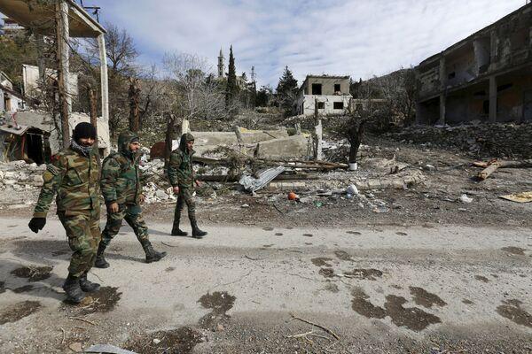 Soldati dell'Esercito Siriano a Rabiya liberata. - Sputnik Italia