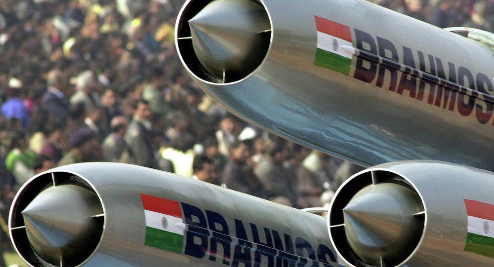 Missile supersonico da crociera Brahmos (foto d'archivio)