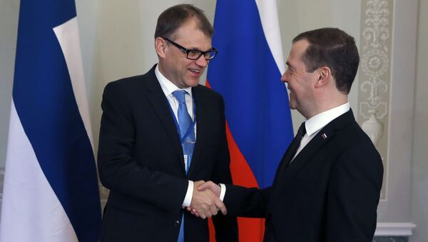 I capi di governo di Finlandia e Russia a San Pietroburgo - Sputnik Italia