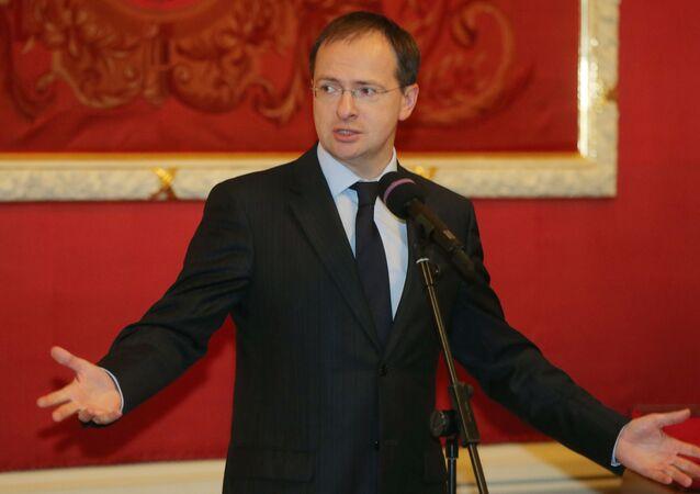 Il ministro della Cultura russo Vladimir Medinskij