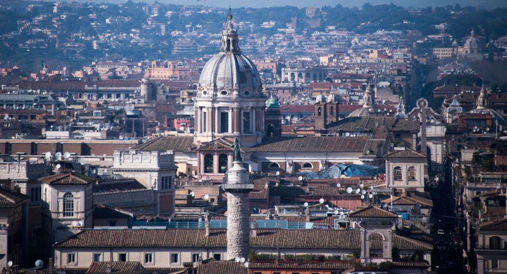 Panorama di Roma, Italia.