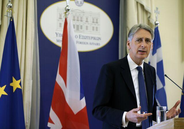 Il ministro degli Esteri britannico Philip Hammond