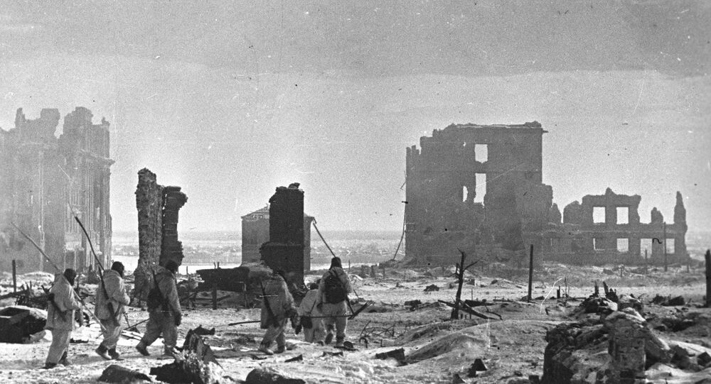 Center of Stalingrad after liberation