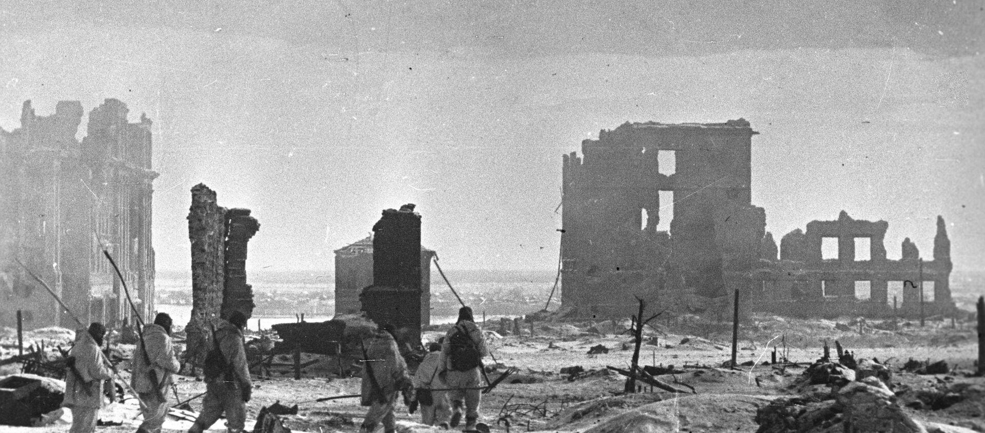 Center of Stalingrad after liberation - Sputnik Italia, 1920, 27.10.2020