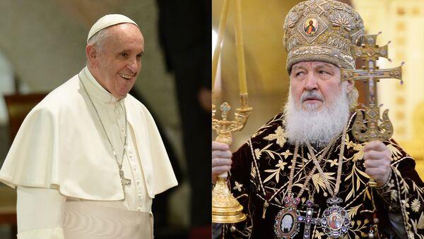 Papa Francesco ed il patriarca di Mosca e di tutta la Rus Kirill - Sputnik Italia