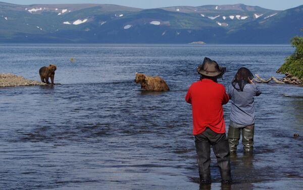 Orsi e turisti in Kamchatka - Sputnik Italia