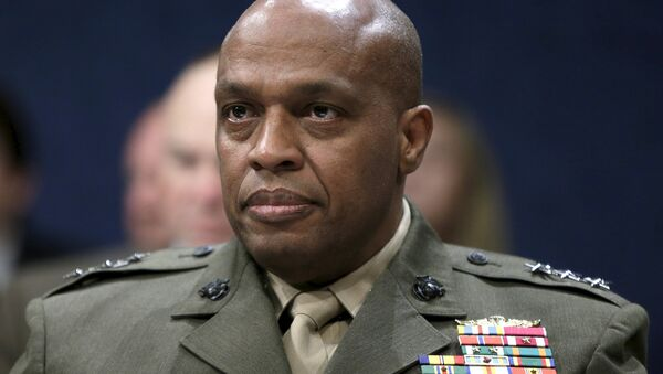 Defense Intelligence Agency Director USMC Lt. General Vincent Stewart waits to testify at a House (Select) Intelligence Committee hearing on World Wide Cyber Threats on Capitol Hill in Washington September 10, 2015 - Sputnik Italia