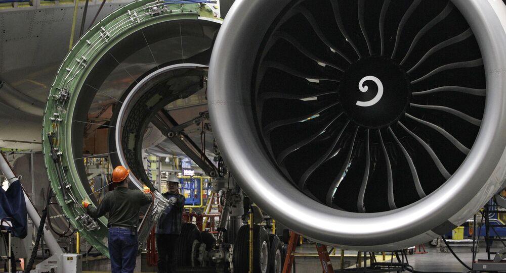 Motore di un Boeing 777