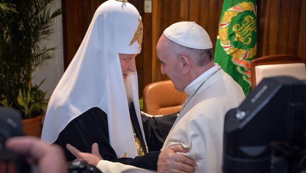 Il patriarca Kirill e il papa Francesco - Sputnik Italia