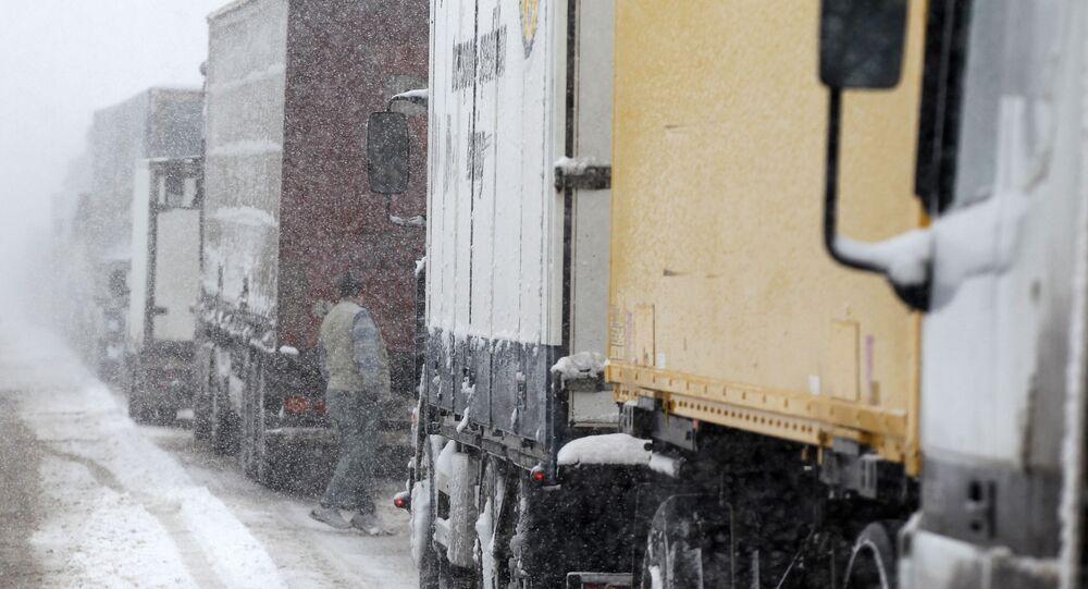 Camion bloccati