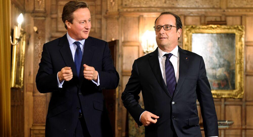 Francois Hollande e David Cameron