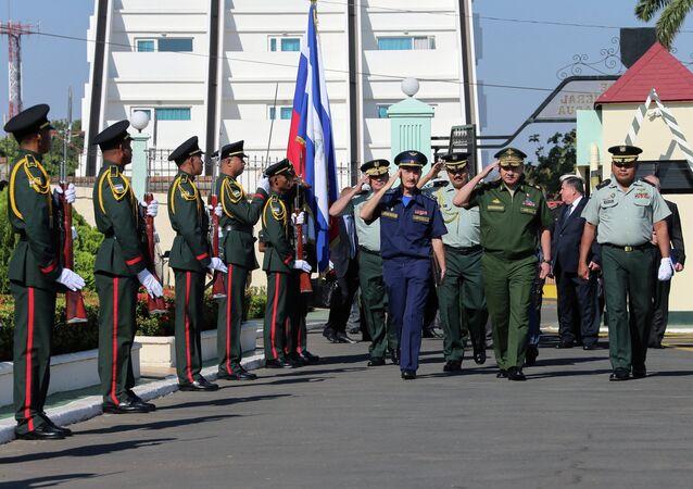 Visita del ministro della Difesa della Russia Sergey Shoygu in Nicaragua