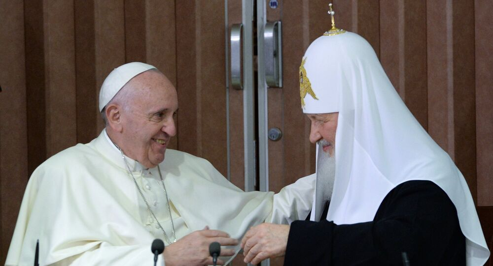 Il papa Francesco e il patriarca Kirill all'Avana