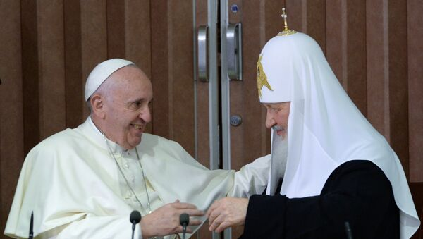 Il papa Francesco e il patriarca Kirill all'Avana - Sputnik Italia