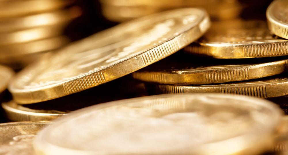 Monete d'oro (foto d'archivio)
