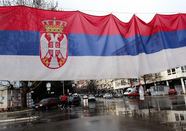 La bandiera serba