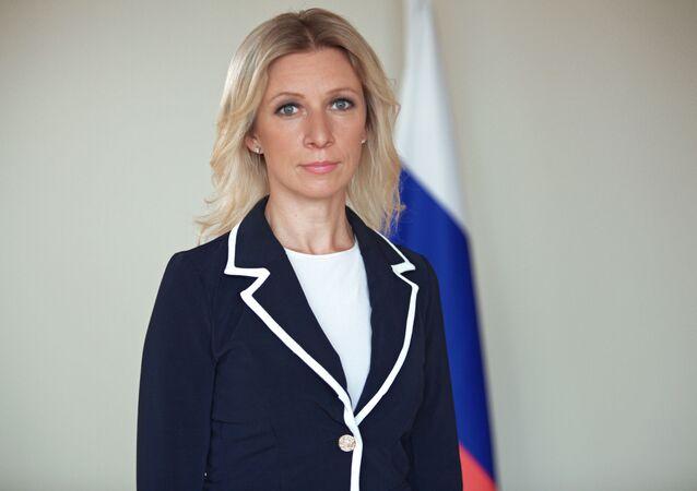 Rappresentante ufficiale del ministero degli Esteri russo Maria Zakharova (foto d'archivio)