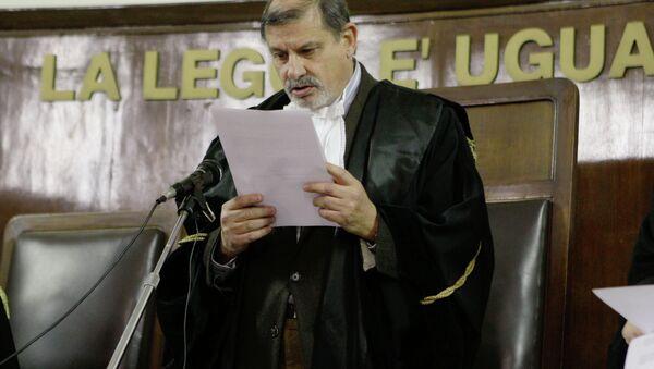 Il giudice Sergio Silocchi legge la sentenza a Osama Moustafa Hassan Nasr (Abu Omar), Milano, Italia - Sputnik Italia
