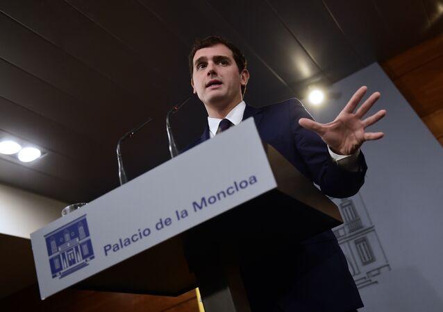 Il capo di Ciudadanos Albert Rivera