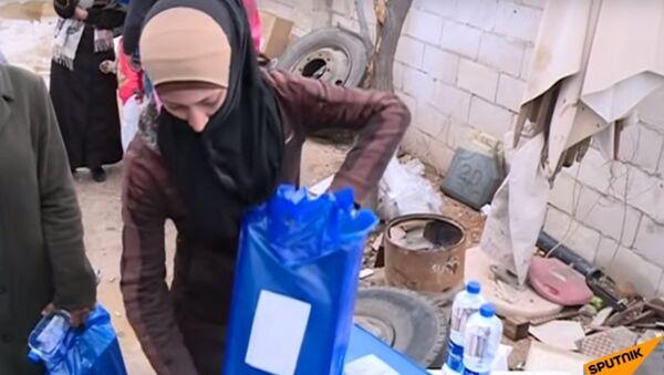 Consegna degli aiuti umanitari russi in Siria - Sputnik Italia