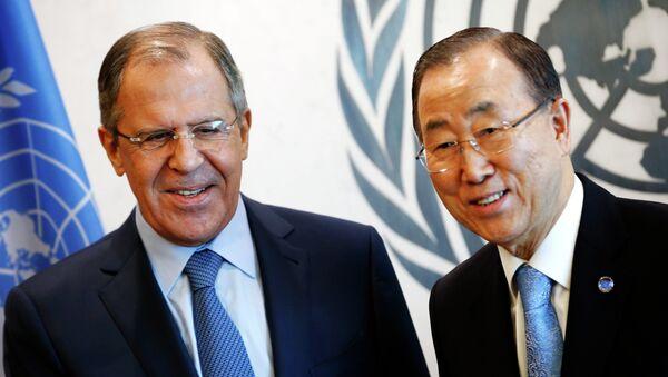 Sergey Lavrov e Ban Ki-moon - Sputnik Italia