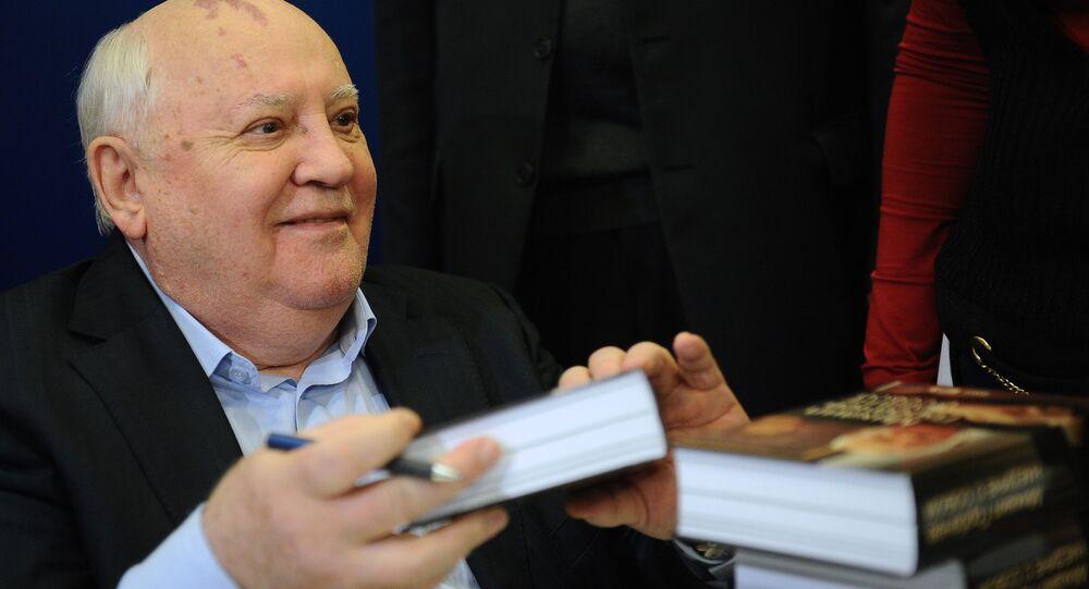 Il presidente e ultimo leader dell'Unione Sovietica, Mikhail Gorbachev