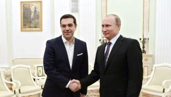Alexis Tsipras e Vladimir Putin al Cremlino - Sputnik Italia
