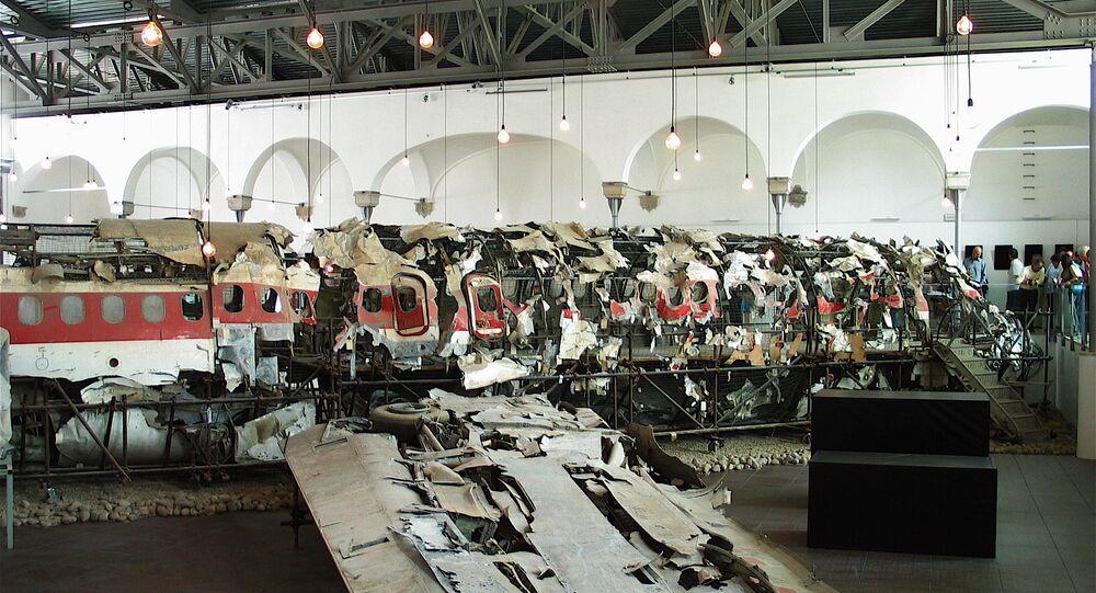 I rottami del DC-9 Itavia I-TIGI precipitato a Ustica